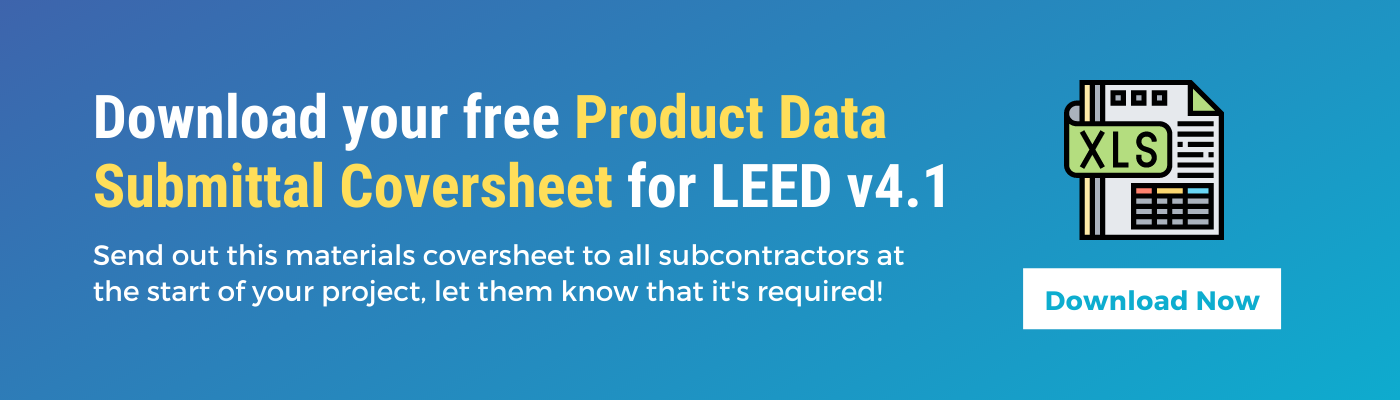 Download your free LEED v4 materials coversheet