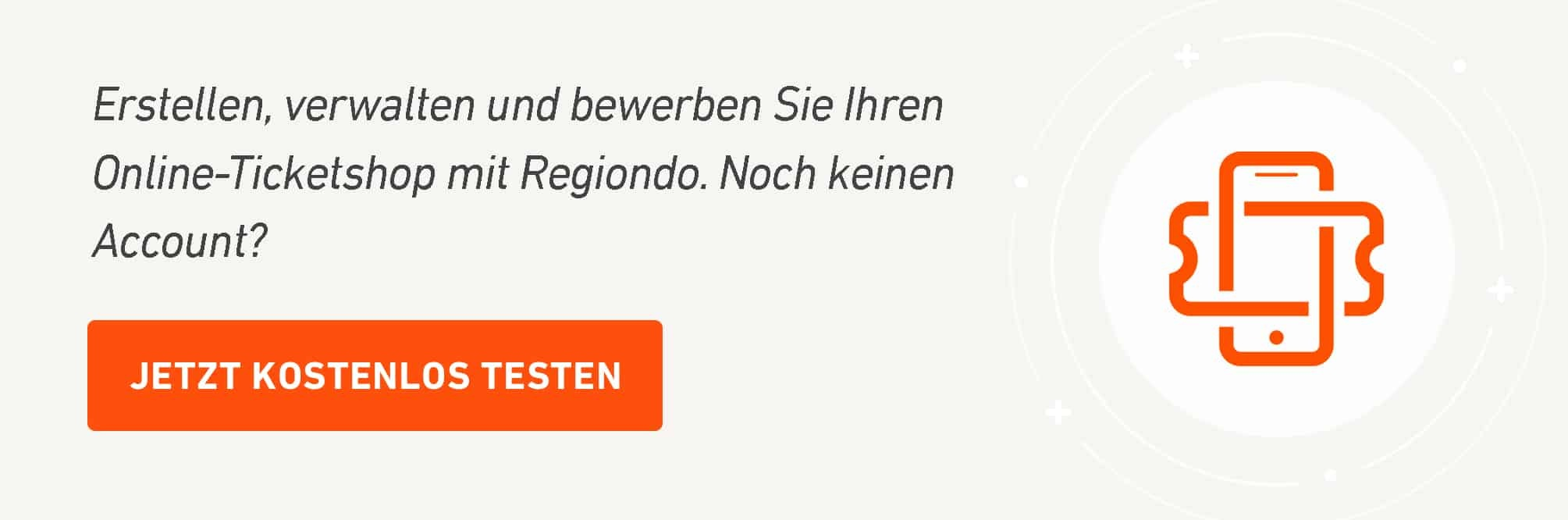 Regiondo Ticketscanner kostenloser Testaccount