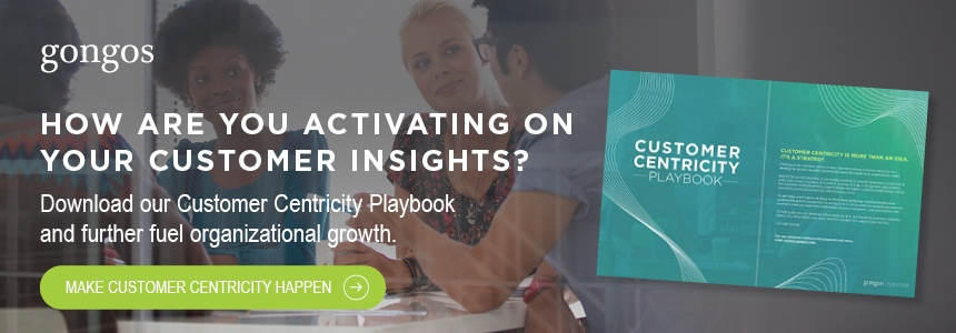 CTA Blog - Gongos Customer Centricity Playbook