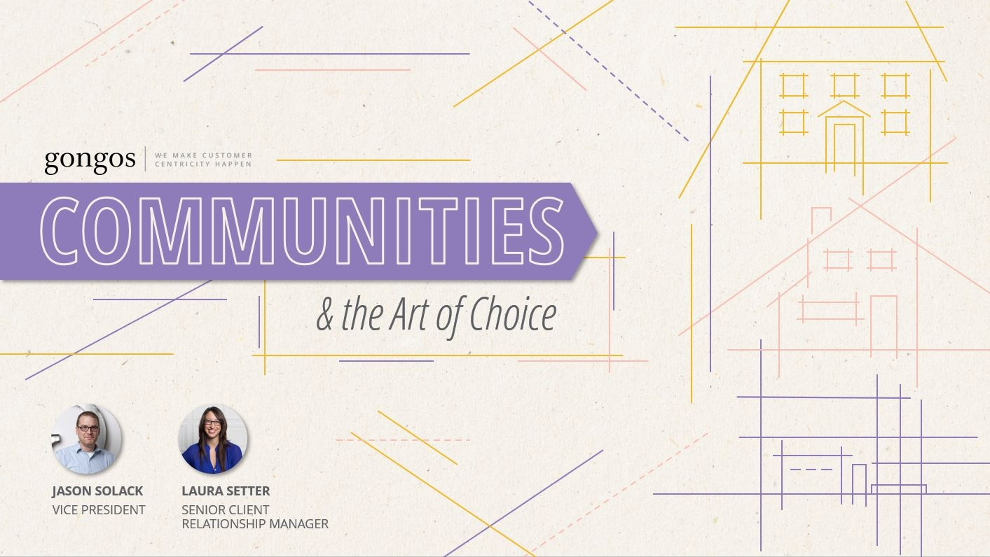 Communities & the Art of Choice