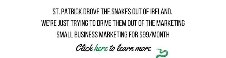 We're Driving the snakes out of marketing: Small Business Marketing for $99/ Month