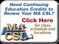 MA CSL Classes