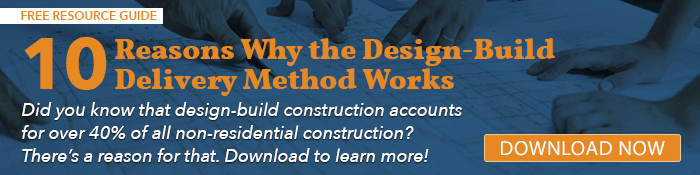 CTA button linking to resource article: 10 Reasons Why the Design-Build Delivery Method Works