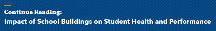 Image button that links to an article about the impact of school buildings on student health and performance
