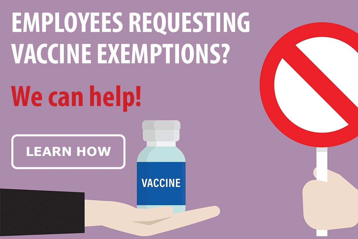 Employees requesting vaccine exemptions? We can help!