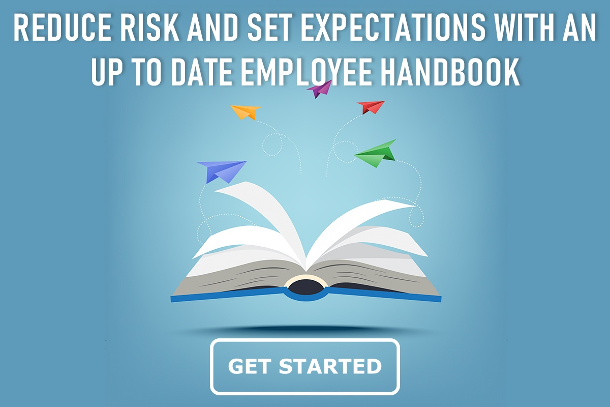 employee handbook open with paper airplanes flying out