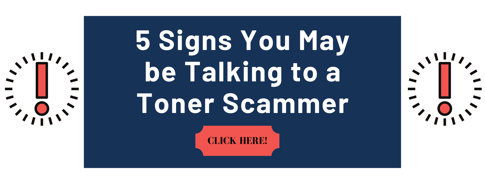Infographic: 5 Signs You May be Talking to a Toner Scammer