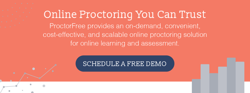 schedule a free demo with ProctorFree
