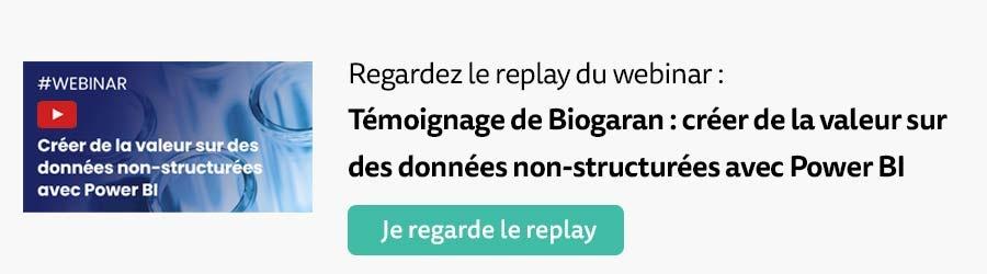 Replay webinar Témoignage de Biogaran : comment créer de la valeur depuis Power BI ?