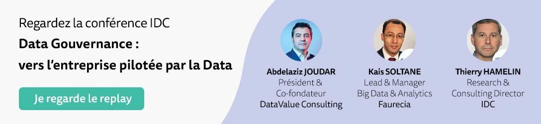 Conférence IDC : Data Gouvernance, vers l'entreprise pilotée par la Data