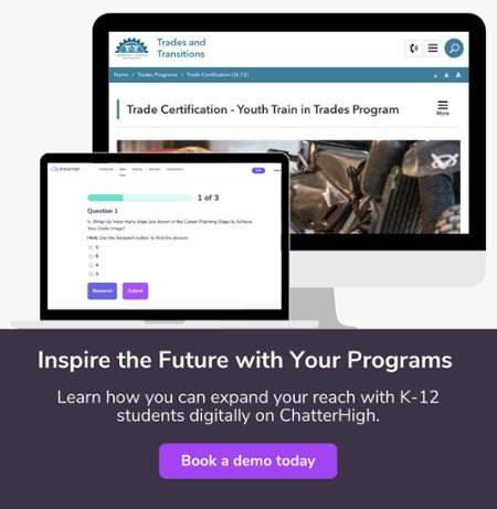 Reach students digitally about trades programs