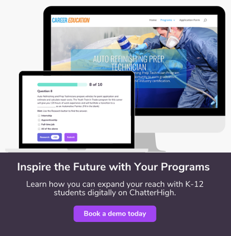 Reach students digitally with chatterhigh