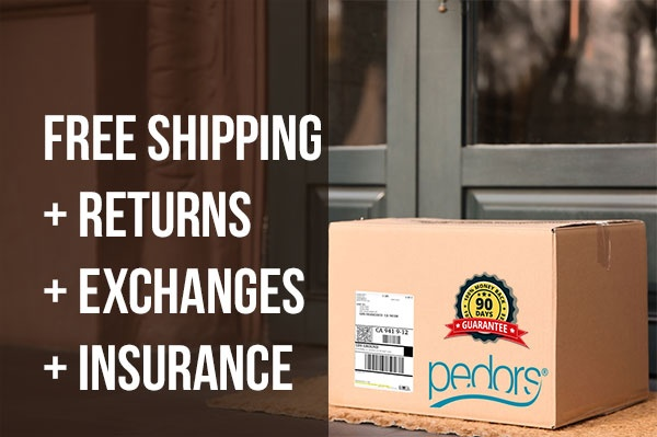 Pedors.com Free Shipping Returns and Exchanges