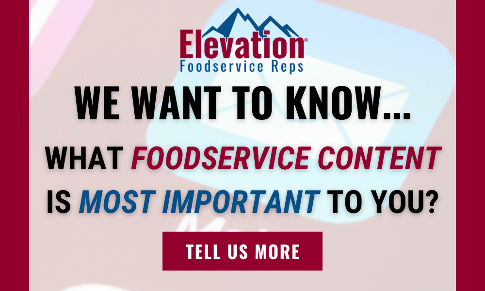 Select your foodservice communication preferences