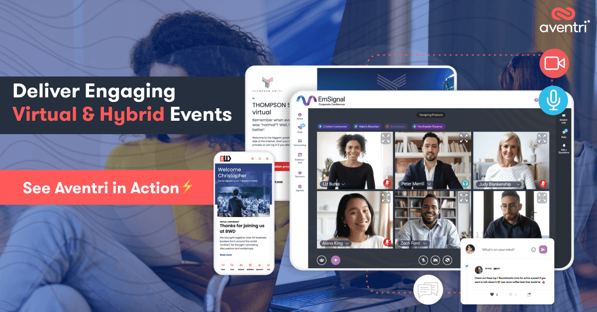 Deliver engaging virtual and hybrid events