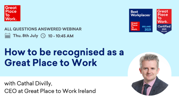 How to be recognised as a Great Place to Work