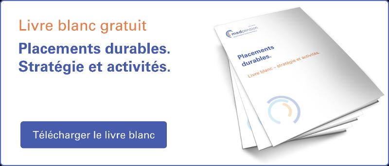CTA pour Placements durables: Livre blanc - stratégie et activités