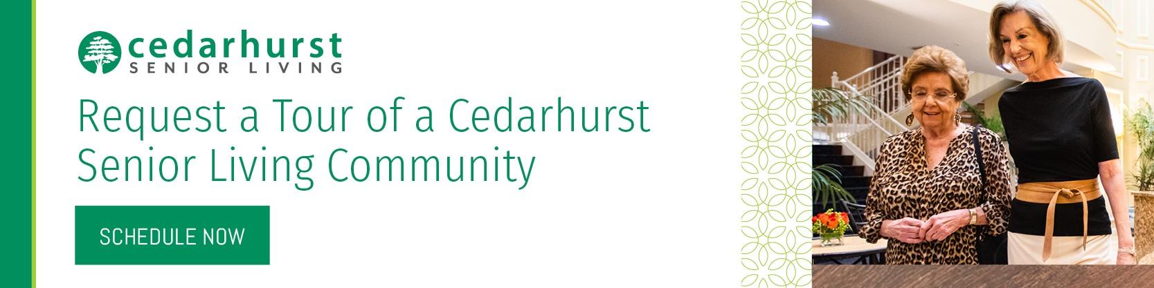 Cedarhurst residents walking at community