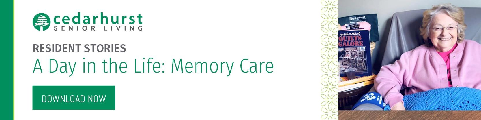 Cedarhurst of Edwardsville memory care resident
