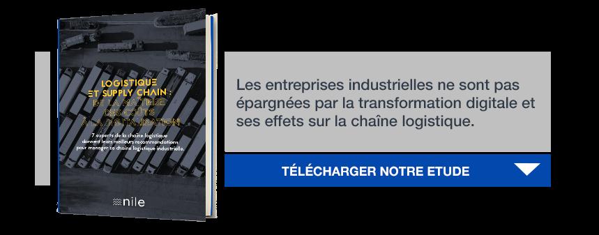 """Télécharger notre étude """"Logistique et supply chain : de la maîtrise des coûts à la digitalisation"""