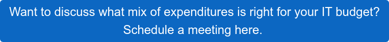 Want to discuss what mix of expenditures is right for your IT budget? Schedule a meeting here.