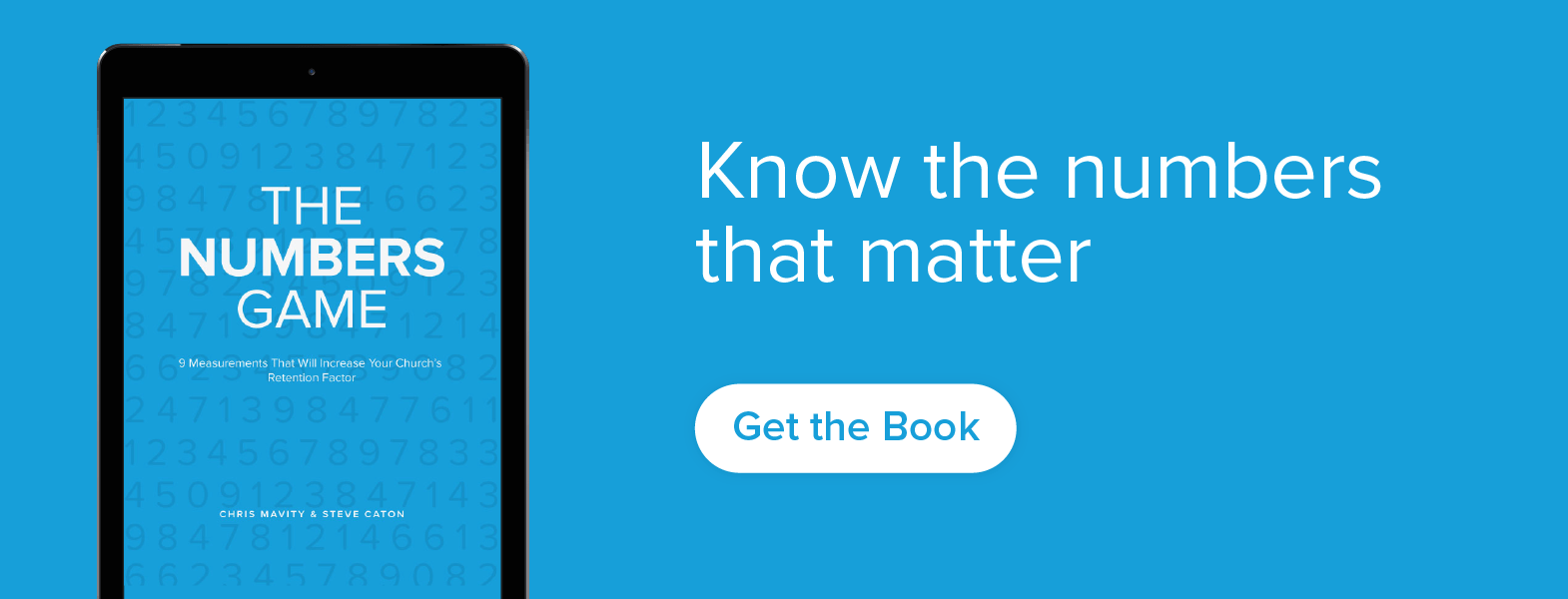 Numbers matter, because they represent people.  Discover which numbers will tell you a clear story of your ministry.