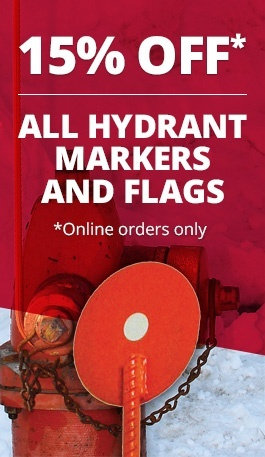 15% Off All Hydrant Markers and Flags
