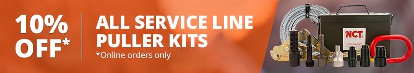 banner service line puller kits 10 percent off sale