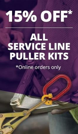 15% Off Service Line Puller Kits