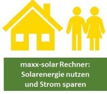 maxx solar Rechner Strom sparen