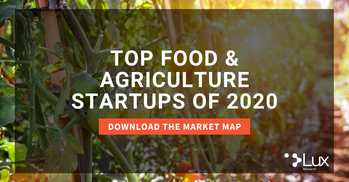 Download the Top Food and Agriculture Startups of 2020 Market Map from Lux Research