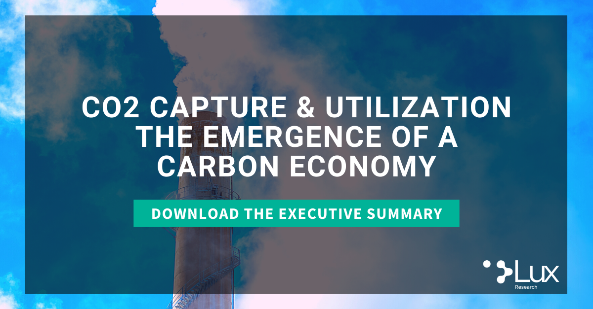 Download the Carbon Capture and Utilization Press Release Executive Summary
