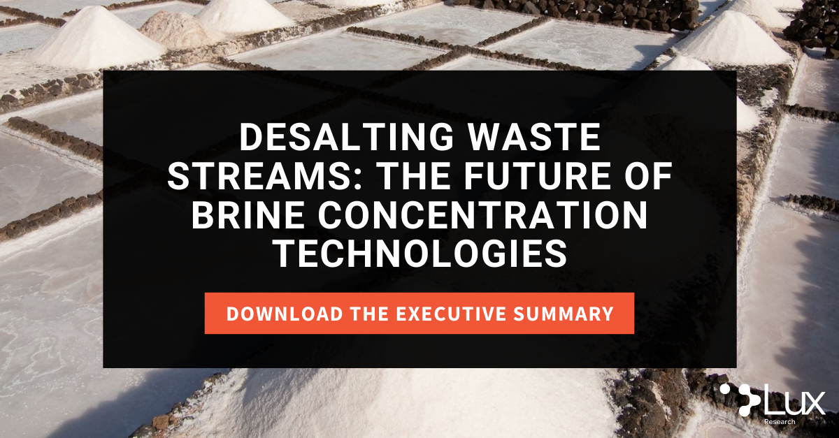 2021.05.26 Desalting Waste Streams: The Future of Brine Concentration Technologies Press Release