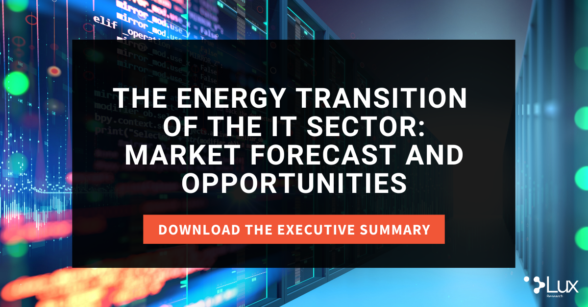 The Energy Transition  of the IT Sector: Market Forecast and Opportunities