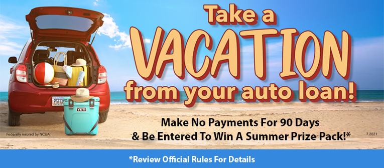 Peach State Take A Vacation From Your Auto Loan Promotion