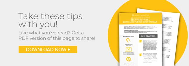 Best Practices for Lead Nurturing Workflows