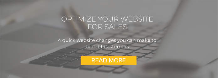 Optimize your website for sales