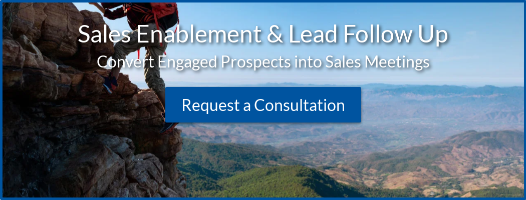 Sales Enablement & Lead Follow Up Convert Engaged Prospects into Sales Meetings  Request a Consultation