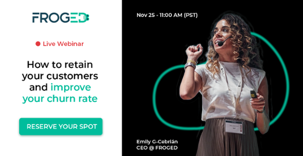 froged black friday webinar 2020 to learn how to retain customers in your saas