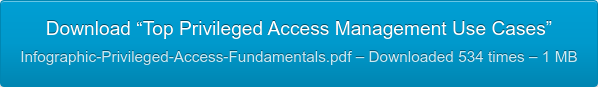"""Download """"Top Privileged Access Management Use Cases""""  Infographic-Privileged-Access-Fundamentals.pdf – Downloaded 534 times – 1 MB"""