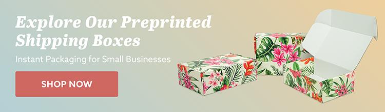 Preprinted Shipping Boxes CTA