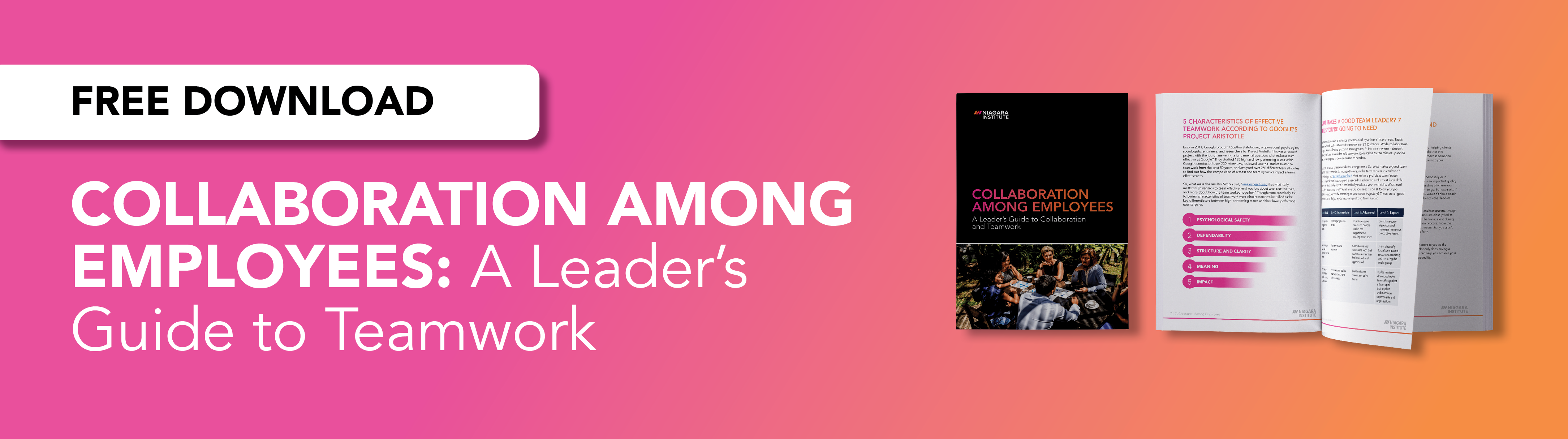 Download the guide for leader's on encouraging collaboration among employees