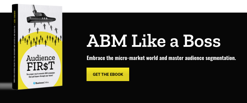 ABM Like a Boss.  Embrace the micro-market world and master audience segmentation.