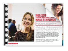 Download your free guide to increasing employee morale and engagement!