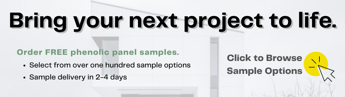 Request free samples of FunderMax phenolic panels