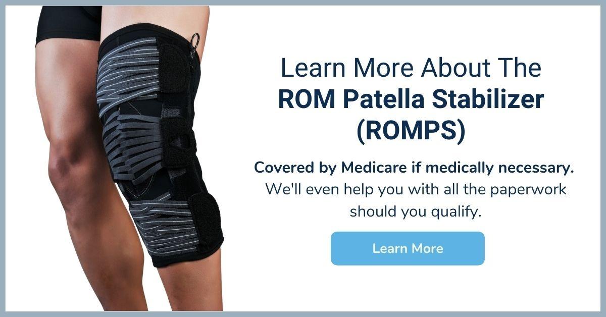 ROM Patella Stabilizer - Medicare Knee Brace - Elite Medical Supply