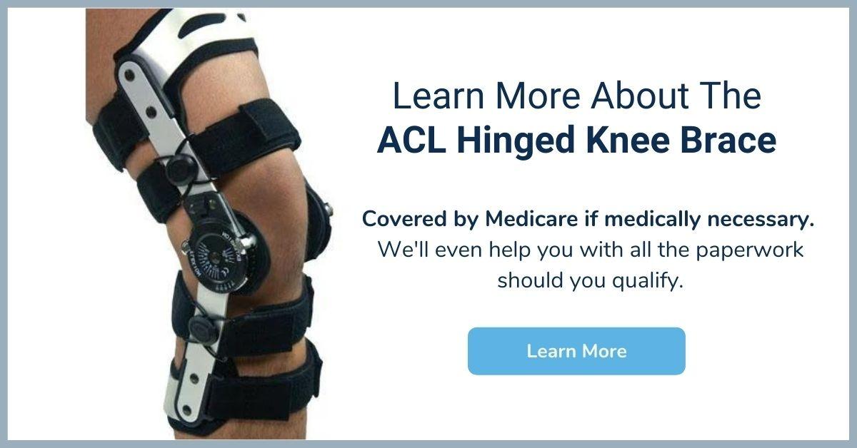 ACL Hinged Knee Brace - Medicare Knee Brace - Elite Medical Supply