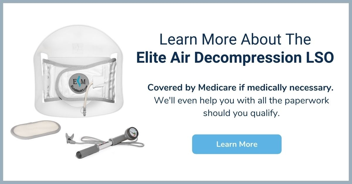 Elite Air Decompression LSO Back Brace  - Medicare Back Brace - Elite Medical Supply