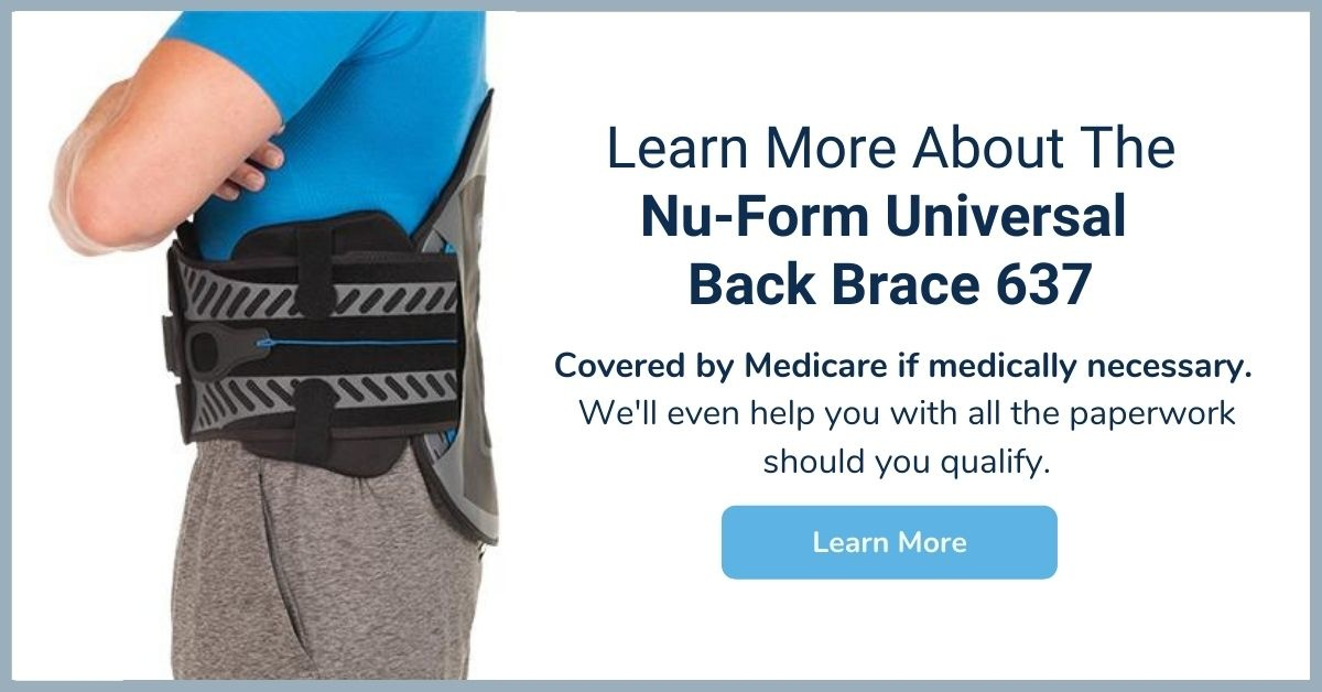 Nu-Form Universal Back Brace 637 - Medicare Back Brace - Elite Medical Supply