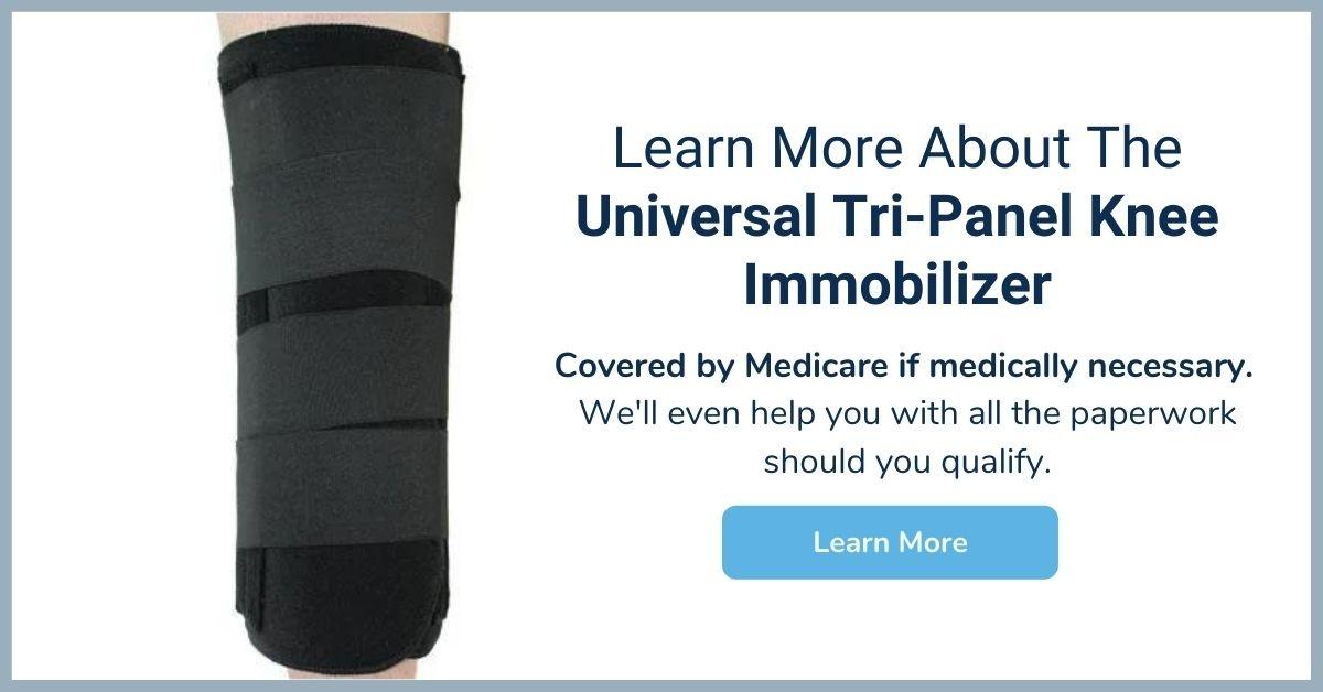 Universal Tri-Panel Knee Immobilizer - Medicare Knee Brace - Elite Medical Supply